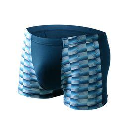 Chinese  5 Style Soft breathable Bamboo fiber Men Underwear U convex corner men's modal Flower printed pants Boxers Shorts wholesale manufacturers