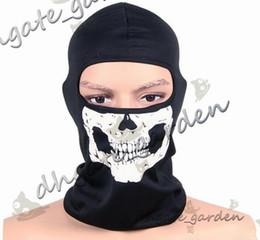 Motorcycle skull windproof online shopping - NEW CS Cosplay Ghost Skull Black Full Face Mask Motorcycle Biker Balaclava Breathing Dustproof Windproof mask Skiing sport masks