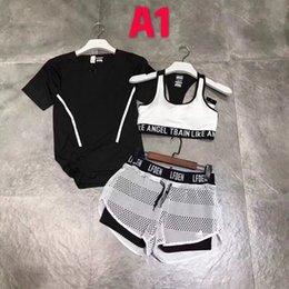 $enCountryForm.capitalKeyWord Canada - New Fashion Tracksuit Women Summer Sport Wear Cotton Yoga Suit Fitness Bra Shorts Gym Top Vest Pants Running Underwear 3Sets Runner Outfits