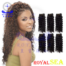 Discount brazilian crochet braiding hair - Royal Sea Weft Brazilian Human Hair Crochet Braids Bulk 3 Pcs Jerry Curl Bulk Human Hair For Braiding Natural Color