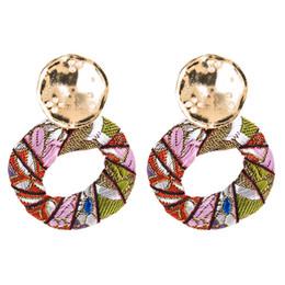 a9a12e52e 14k white gold earrings hoops online shopping - Colors Hoop Fabric Earrings  Chandelier Bohemian Fashion Long