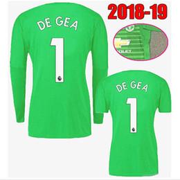 aa978e004 2018 2019 Adults  1 De Gea Long Sleeve Goalkeeper Jerseys Manchester Soccer  Jerseys Short Sleeve De Gea  22 Romero United Football Shirts