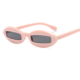 China Small Oval Sunglasses Women Fashion Retro Rectangle Pink Leopard Black Vintage Sun glasses For Women 2018 Men UV400 W5 cheap small rectangle sunglasses suppliers