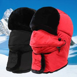 camping hiking hats 2018 - 2018 Masked Thickening Ski Cap Winter Earmuffs Cap Outdoor Sport Camping Hiking Hat For Men Women Waterproof Windproof C