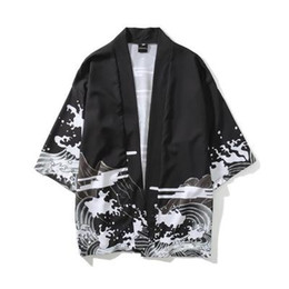 2b299884cab Mens Kimono Japanese Clothes Streetwear Casual Kimonos 2018 Summer Autumn Jackets  Harajuku Japan Style Cardigan Outwear for Men Drop Ship