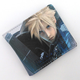 China Final Fantasy Anime Game Wallet Guilty Crown Short Purse Men Women Money Bag With Card Holder suppliers