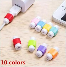 wire cord protector 2019 - 2018 USB Lightning Data Charger Cable Silicone Saver Protector Headset Protection Earphone Wire Cord Protective For iPho