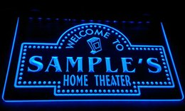 Home Theater Lights NZ - LS591-b Personalized custom home theater Light Sign Decor Free Shipping Dropshipping Wholesale 8 colors to choose