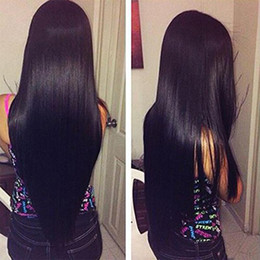 hair extension wefts cheap NZ - 9A Great Quality Human Hair Weave Straight 3 or 4 Bundles Lot Cheap Brazilian Hair Peruvian Malaysian Virgin Hair Wefts Extension 10-30 Inch