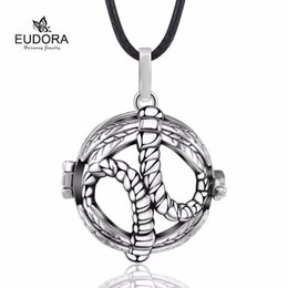 Pregnancy Chime Pendant NZ - 5 Sets Dragonfly Cage Harmony Bola Locket Pendant Pregnancy Chime Baby Caller Mexican Bola for Mother's Day K265Y