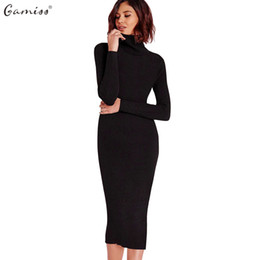 913198a3708 X907 Gamiss Women Autumn Winter Sweater Knitted Dresses Slim Elastic  Turtleneck Long Sleeve Sexy Lady Bodycon Robe Dresses Vestidos