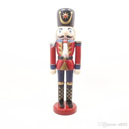 Chinese  Novel Coloured Drawing Wood Soldiers Puppet Toys Desk Office Bedroom Decor Ornament Nutcracker Doll Easy Carry Light 11hx cc manufacturers