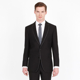 best suits Canada - Black Groom Tuxedos Custom Made Groomsmen Suits Latest Designs Back Vent Best Man Suit Wedding Men Suits Bridegroom 2 Pieces (Jacket+Pants)