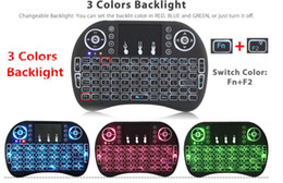 2017 keyboard Mini i8 Wireless Keyboard New Fly Air Mouse 2.4G With Back light Red Green Blue Remote controller for TV box pc computer