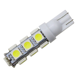 Car Led Side UK - YSY 100X White T10 13 SMD 5050 13LED 13Smd 194 168 192 Auto Car Side Light Bulb 194 168 W5W LED Wedge Lamp 12V wholesale