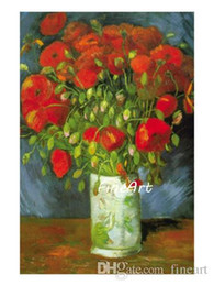 $enCountryForm.capitalKeyWord Australia - hand-painted oil wall vincent van gogh red poppies floral artwork famous paintings reproduction home goods wall art Kungfu Art