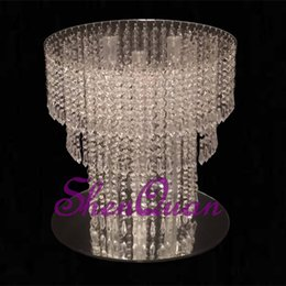 $enCountryForm.capitalKeyWord Australia - Wholesale different sizes flower crystal tray cake plate for decoration room,Pedestal Wedding Party Dessert Cupcake Display Plate