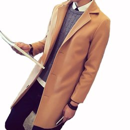 8e5aea4fc1c0 Men's Wool Coats & Jackets Winter New Man Long Section Single Breasted  Overcoat Casual Warm Turn-down Collar Trench Coat Size5XL
