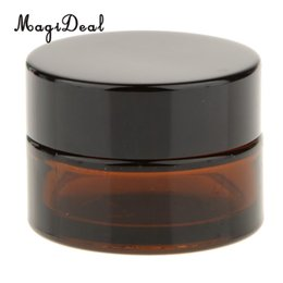 Mini Cream Lotion Wholesale UK - MagiDeal 20g Refillable Travel Mini Empty Bottle with Cap Lotion Cream Sample Container - Brown Cosmetic Containers Hot Selling