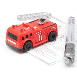 cars toys track 2019 - Free Delivery Magic Pen Inductive Car Truck Follow Any Drawn Black Line Track Mini Toy Engineering Vehicles Educational