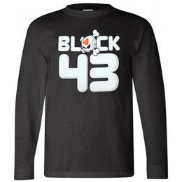 Black Blocks Australia - New KEN BLOCK 43 Monster Racing Skull Logo Long Sleeve Black T-Shirt Size S-3XL