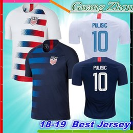 46423bd2115 Thai quality 2018 USA PULISIC Soccer Jersey 18 19 DEMPSEY BRADLEY ALTIDORE  WOOD America Football jerseys United States Shirt