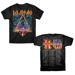 04523b6e Def Leppard with Journey North American Tour 2018 T-Shirt Men's Clothing  2018 High quality Brand Men T shirt Casual Short