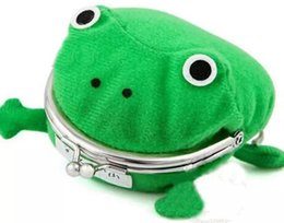 Funny coin purse online shopping - Baby Kids Children Frog Shape Cosplay Coin Purse Wallet Soft Furry Plush Funny Storage Bag