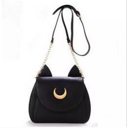 Cat bag wholesale online shopping - Sailor Moon Bags Summer Limited For Ladies Handbag With PU Leather Black White Cat Luna Moon Women Messenger Crossbody Bag