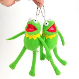 Sesame Toys Canada - 10cm Muppets Kermit Plush Sesame Street Frog Plush Doll Toys Kids Stuffed Toy keychain keyring pendant Backpack Keychians AAA794