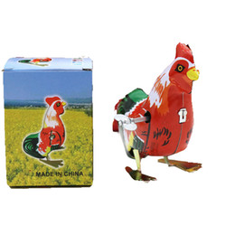 $enCountryForm.capitalKeyWord NZ - New Style Tin Wind Up Toys Chicken Cock Model Clockwork Toys for Children Cock DesignToy Adults Gift