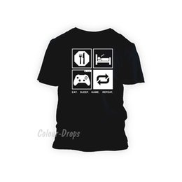 $enCountryForm.capitalKeyWord NZ - Details zu Eat Sleep Game Repeat Gamer T- shirt Funny XBOX PS4 PC Unisex, Ladies, Kids Tops Funny free shipping Unisex tee