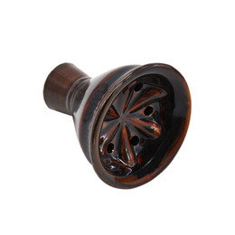 $enCountryForm.capitalKeyWord UK - Handmade Vortex Ceramic Hookah Bowl Diameter 60 MM Six Hole Funnel Hookah Head Shisha Bowl Chicha Nargile Ceramic Bowl