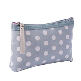 Fashion Women Dot Cosmetic Bag Linen Concise Washing Toiletry Kits Makeup  Bag Light Weight Portable Female Travel Organizer Neceser Mujer 8160df1177