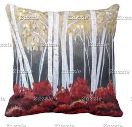 $enCountryForm.capitalKeyWord UK - Plush Birch Tree Decor Pillow Can be customized to map satin pillow home decoration