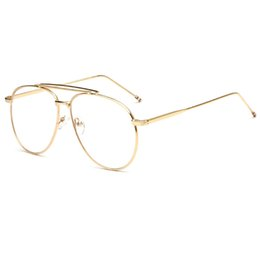 fe3a81113f3d Scratch Proof Mirror UK - New Double Beams Oval Metal Eyeglasses Frames  with Coating Men Women