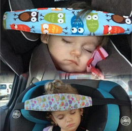 Wholesale Infant Head Safety Belt Children Adjustable Nap Sleep Holder Belt Car Seat Fixing Band Strap Baby Carriage Bed Protective Belt OOA5218
