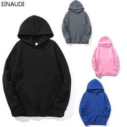 Realistic 2019 New Casual Pink Black Gray Blue Hoodie Hip Hop Street Wear Sweatshirts Skateboard Men/woman Pullover Hoodies Male Hoodie High Safety Men's Clothing