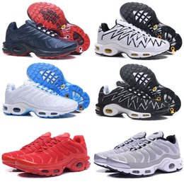 1f5117182cc134 2018 New Sports Running Shoes New TN Men Black White Red Mens Breathable Runner  Sneakers Man Trainers Tennis Shoes Size 40-46