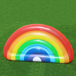 Toys rainbow circle online shopping - Semi Circle Rainbow Inflatable Floats Easy To Carry Pool Water Toy Resuable PVC Swim Ring For Adults And Children at B