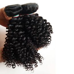 Machine Weft Indian Remy Hair Australia - Brazilian Virgin Hair weave sexy 8-12inch Kinky Curly hair extension best price Indian remy Human Hair double weft Direct Manufacturer