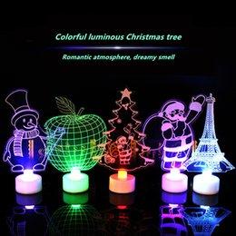 أطفال ألعاب 2018 أحدث أصالة أشجار عيد الميلاد سانتا كلوز ليلة الخفيفة الصمام الأطفال 3D الملونة عيد الميلاد مضيئة اللعب هدايا دي إتش إل بحرية