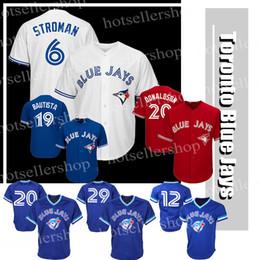 88985155d86 Toronto Blue Jays baseball jerseys 6 Marcus Stroman 20 2 12 Roberto Alomar 29  Joe Carter 11 Kevin Pilar 19 Jose Bautista