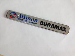 Discount chrome car emblems animals Free Shipping Allsion Duramax Diesel Door Chrome Emblem car sticker-10pcs