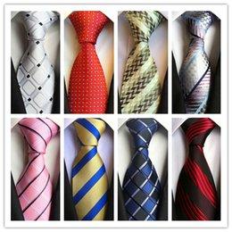 2019 Moda laço da gravata Hot Mens clássico laços formais de casamento Negócios Branco Rosa Red Stripe Tie Men Acessórios para o laço do noivo gravata em Promoção