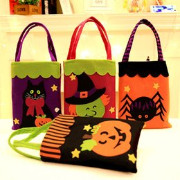 Wholesale Halloween Pumpkin Tote Bags Candy Gift Bags Sacks Halloween Decoration Bag Shopping Mall Hotel Cookies Apple Gift Bag