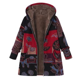 d0215bf366e16 Coat Women Outerwear Plus Size NZ - 2018 ZANZEA Fashion Long Sleeve Hooded  Winter Thicken Warm