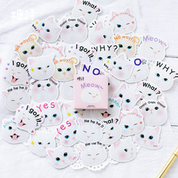 $enCountryForm.capitalKeyWord Australia - 1pcs Memo Pad NotDiary of Stickers Notepad Princess White Cat Paper Note Book Replaceable Stationery Gift Traveler Journal