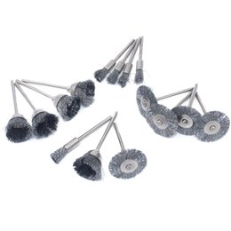 $enCountryForm.capitalKeyWord NZ - 15PC Wire Steel Brushes Wheel Dremel Accessories for Rotary Tools