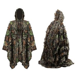 Camouflage Combat suit online shopping - Camouflage Tactical Suit Hunting Clothes Outdoor Sport Sniper Clothing Army Combat Woodland Camo Ghillie Suit